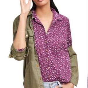 Anthropologie Maeve Floral Button Down Blouse   6